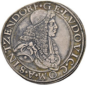 1 thaler  Georg Ludwig – avers