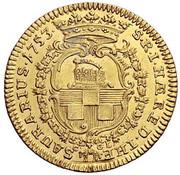 1 ducat Johan Wilhelm – revers