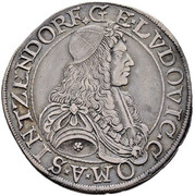 ½ thaler Georg Ludwig – avers