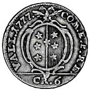 6 kreuzer - Franz Friedrich – revers