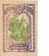 50 Heller (Sittendorf) – avers