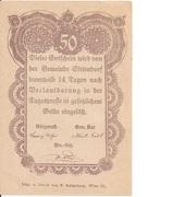50 Heller (Sittendorf) – revers