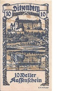 10 Heller (Sitzenberg) – avers