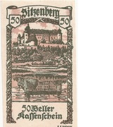50 Heller (Sitzenberg) – avers