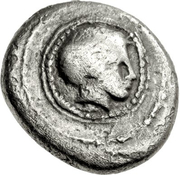 Trihemiobol (Skotoussa) – avers