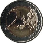 2 euros Introduction de l'euro (10 ans) -  revers