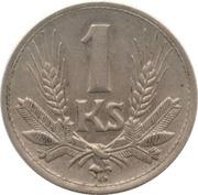 1 koruna – revers
