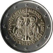 2 euros Arrivée de Cyrille et Méthode -  avers
