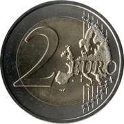 2 euros Arrivée de Cyrille et Méthode -  revers