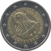 2 euros Révolution de velours -  avers