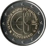 2 euros Entrée dans l'UE -  avers