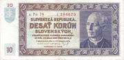 10 Korún Slovenských – avers