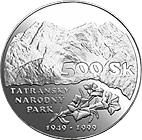 500 couronnes Parc naturel national des Tatras -  revers