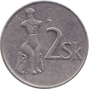 2 koruna -  revers