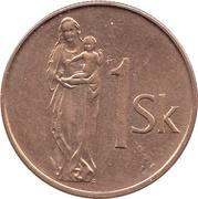 1 koruna -  revers