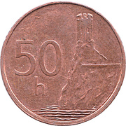 50 halierov -  revers