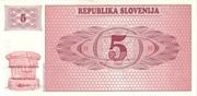 5 Tolarjev – revers