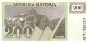 200 Tolarjev – avers