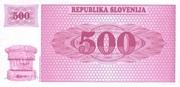 500 Tolarjev – revers