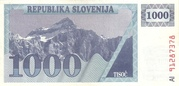 1000 Tolarjev – avers