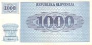 1000 Tolarjev – revers