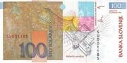 100 Tolarjev (10 Years Banka Slovenije) – revers