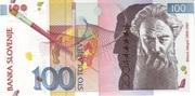 100 Tolarjev (EU Entry) – avers