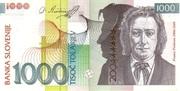 1000 Tolarjev (EU Entry) – avers