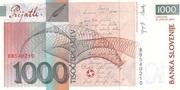 1000 Tolarjev (EU Entry) – revers