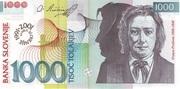 1000 Tolarjev (10 Years Banka Slovenije) – avers