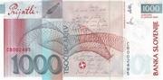 1000 Tolarjev (10 Years Banka Slovenije) – revers