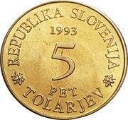 5 Tolarjev – avers