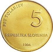 5 tolarjev -  avers