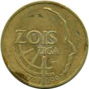 5 tolarjev (Ziga Zois) – revers