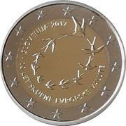 2 euros 10e anniversaire de l'Euro -  avers
