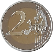 2 euros 10e anniversaire de l'Euro -  revers