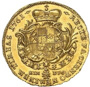 1 ducat Christian August – revers