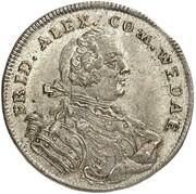 1/12 thaler Johann Friedrich Alexander – avers