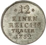 1/12 thaler Johann Friedrich Alexander – revers