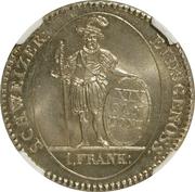 1 frank – revers