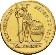32 franken – revers