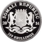 100 Shillings (Elephant; Silver Bullion Coinage) -  avers
