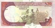 20 N-Shilin Soomaali/New Somali Shillings – revers