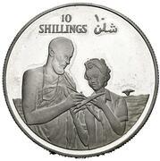 10 Shillings (10th Anniversary of Republic) – revers