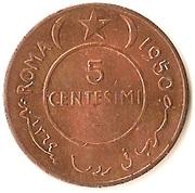 5 centesimi – revers
