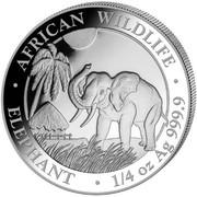 25 Shillings (Elephant) -  revers