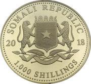 1000 Shillings (Elephant) -  avers