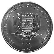 10 shillings (Cheval) – avers
