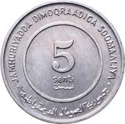 5 Senti (FAO) – avers