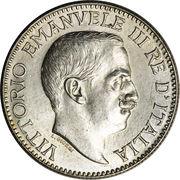 ½ roupie - Vittorio Emanuele III – avers